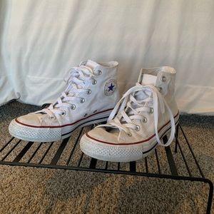 White All Star High Top Converse
